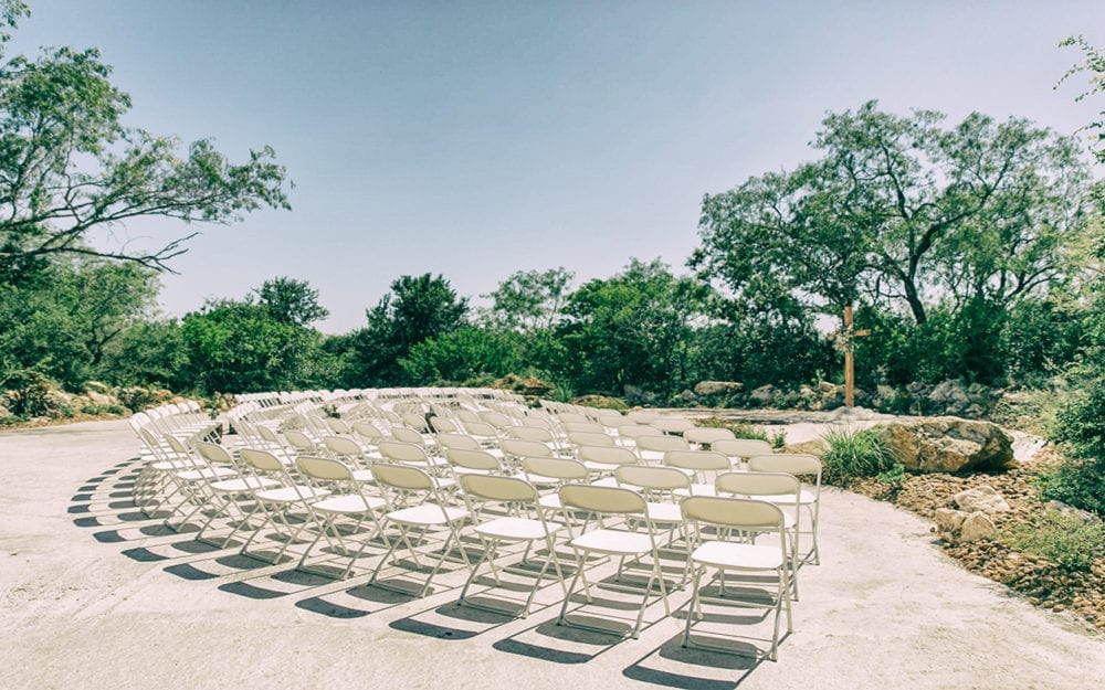 Seating Area for Wedding outside San Antonio TX