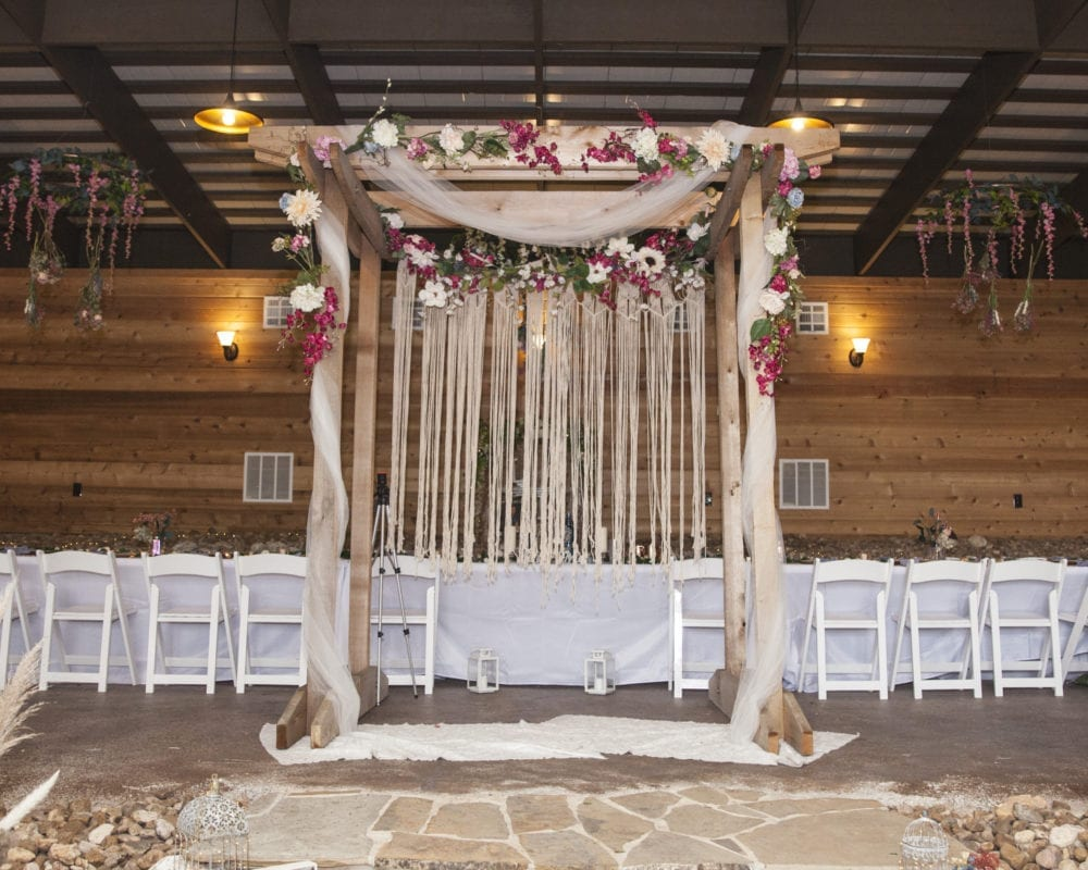 Wedding Arch - The Wedding Arbor decorated for a wedding in Seguin, TX