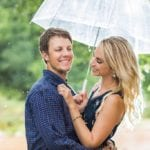 Engagement Session at Geronimo Oaks in the Rain